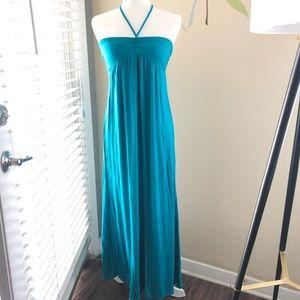 F21 Teal Maxi Dress